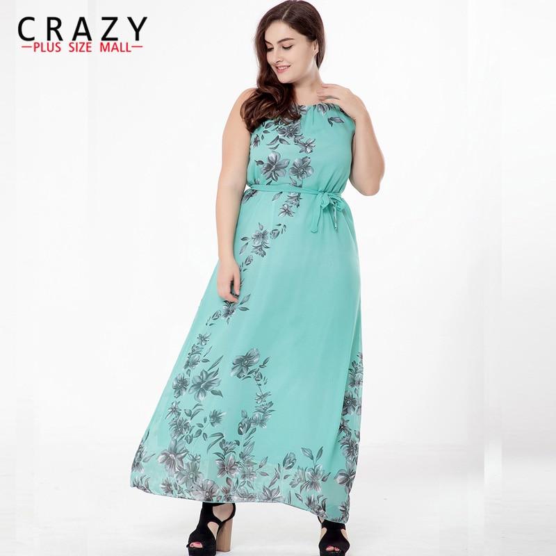 Plus Size Maxi Dress 2018 M 6XL Women Summer Bohomia Dress Vestidos Largos Robe  Femme Large Size 6XL 5XL Beach Dresses-in Dresses from Women s Clothing on  ... 849c4fe0f9e5