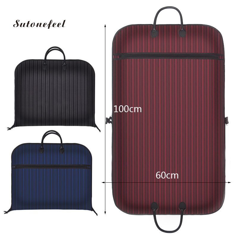 Oxford Clothing Dust Covers Storage Bags For Men Suits Dust Cover Closet Wardrobe Organizers Portable Traveling Bags