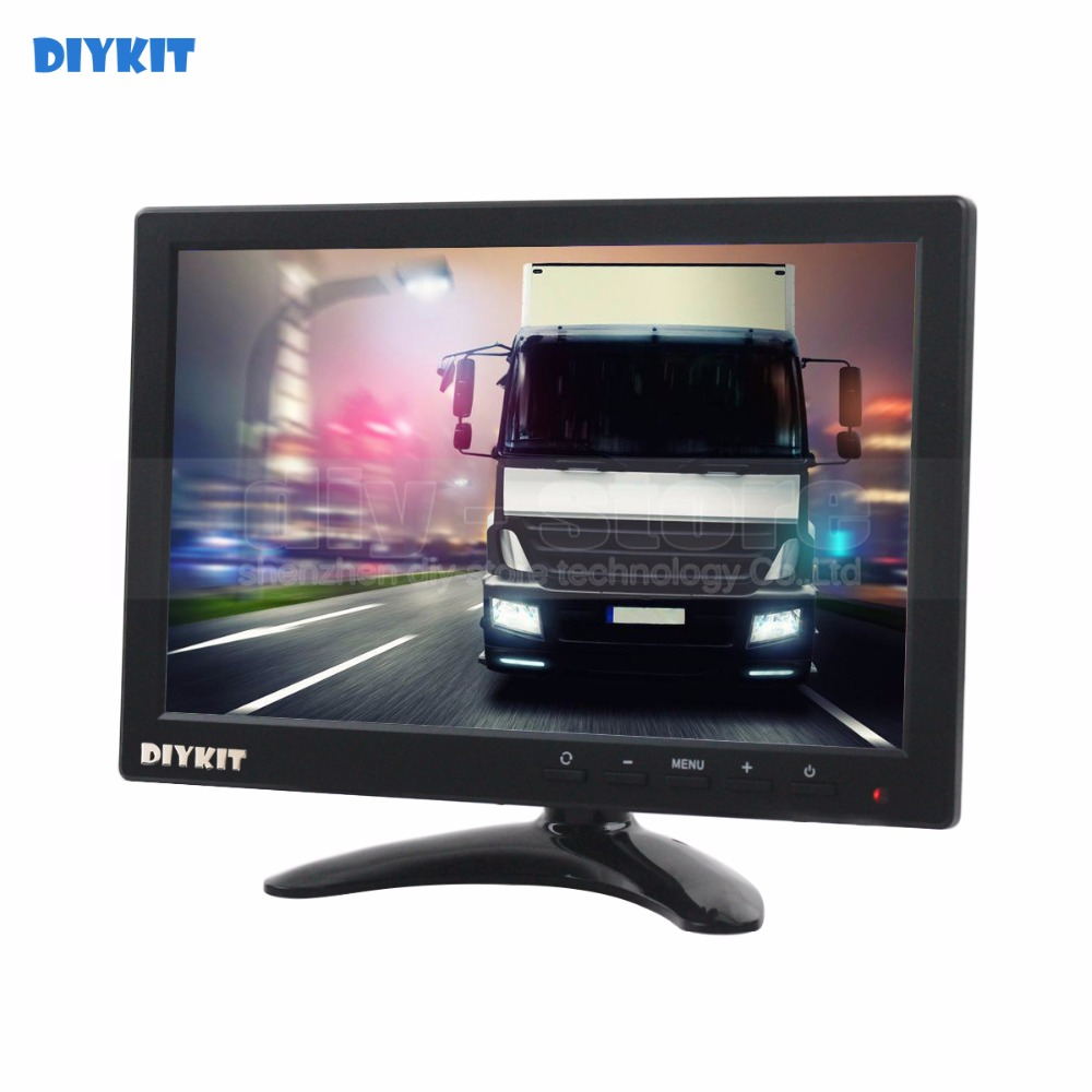 DIYKIT 10.1 inch TFT LCD HD Car Monitor Rear View Monitor Build in Speaker with BNC / AV / VGA / HDMI Input 1280 x 800 k