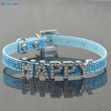 Bling Personalized Pet Dog Name Collar 10MM Rhinestone Customized Free Name Cat Dog Puppy Collar and Leash Lead