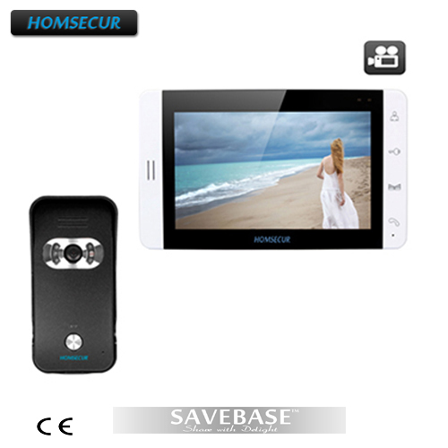 """HOMSECUR Fashionable 7"""" Video Door Phone Support Recording And Photo Taking 700TVL Camera"""
