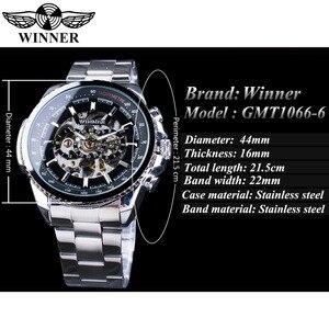 Image 3 - Мужские наручные часы Winner Sport, дизайнерские золотые часы с ободком, роскошные часы от топ бренда Montre Homme, Мужские автоматические часы в стиле стимпанк со скелетом
