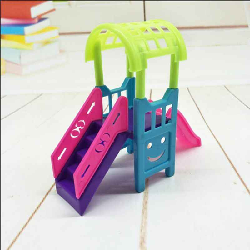 Doll Slide Girls Toys Ladder Amusement Park Sliding Play Dollhouse Accessories Dolls Miniatures Funny Garden Toy Kindergarten