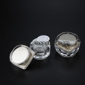 100pcs round cosmetic 5ml plastic nail polish jar , acrylic 5g mini eye cream jar wholesale , white small containers for cream