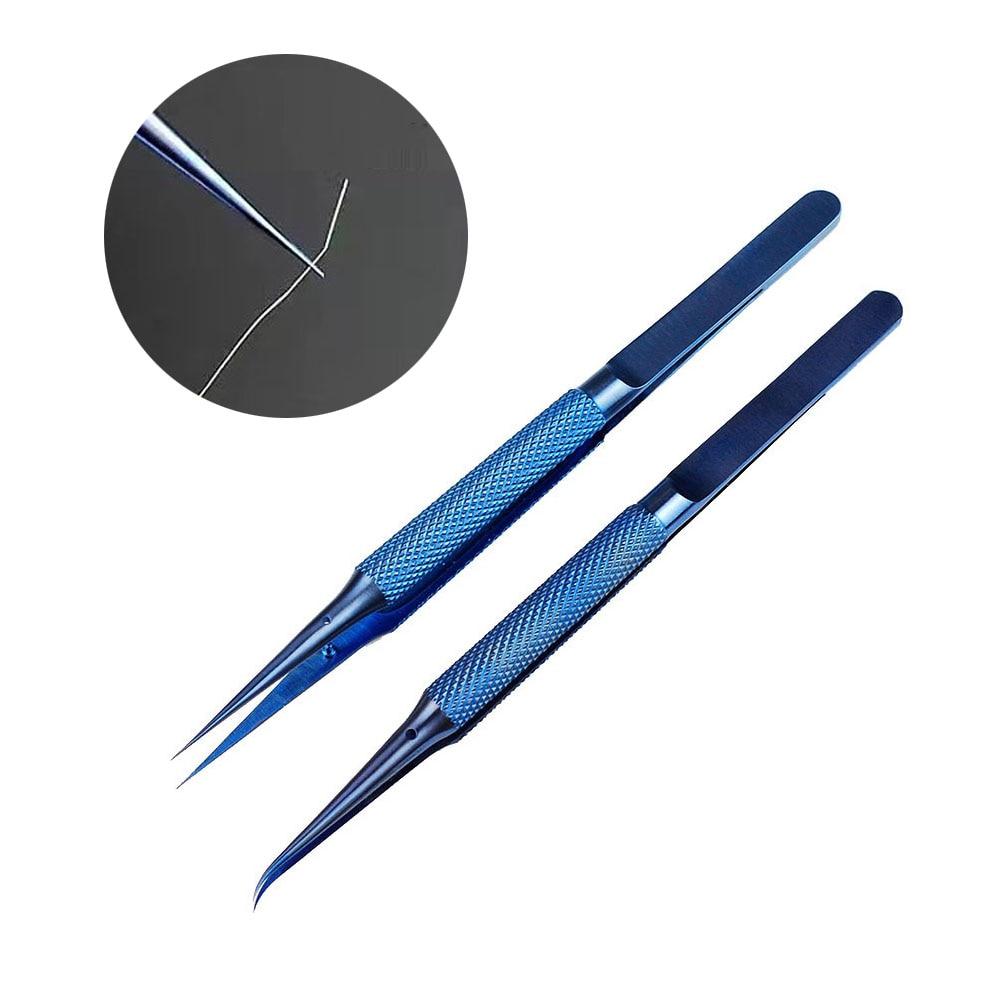 Precision Tweezers 0.15mm Edge Precise Fingerprint Fly Line Picker Titanium Alloy  Tweezers For iPhone BGA Motherboard Repair