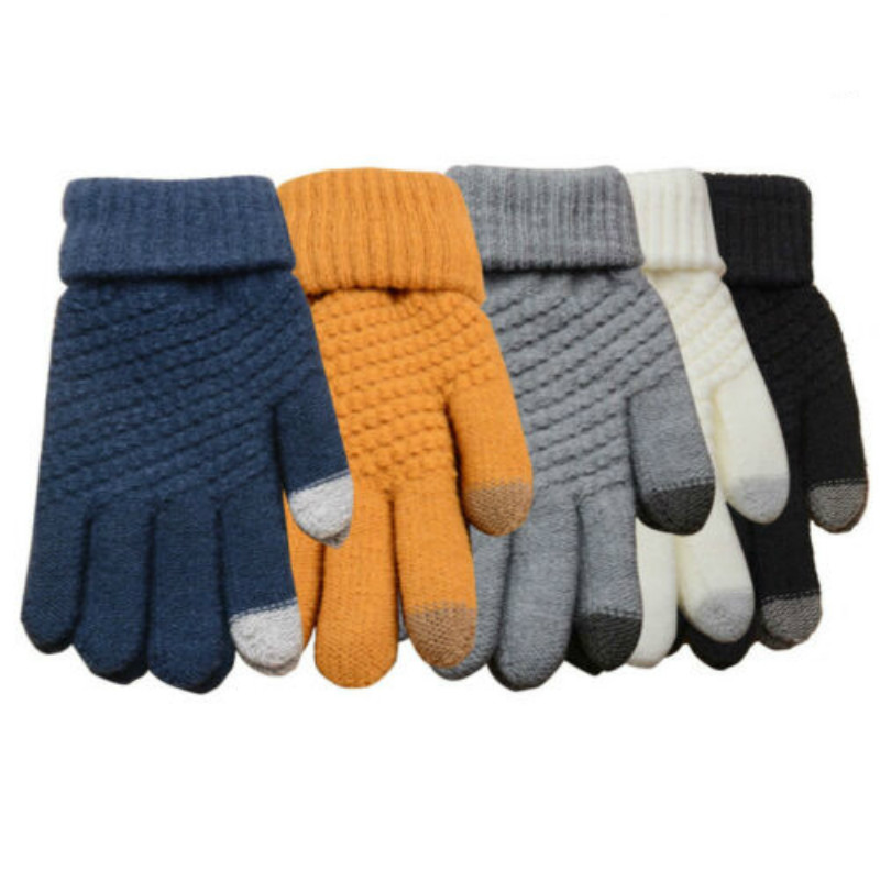 Womens Mens Touch Screen Wool Winter Gloves Warm Smartphone Shining fashion Comfortable Mobile Phone iPhone
