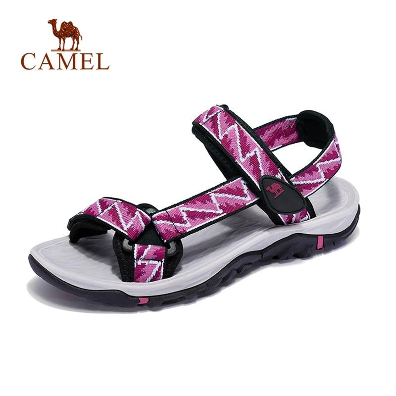 CAMEL Women Outdoor Beach Sandals Spring Summer Light Casual Comfortable Anti-slip Beach Fishing Sandals