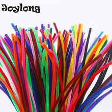 Joylong 100PCS/lot 30CM DIY Arts And Crafts Plush Kids Craft Education Toy Colourful Pipe Handmade Supplies Creative Child Toys