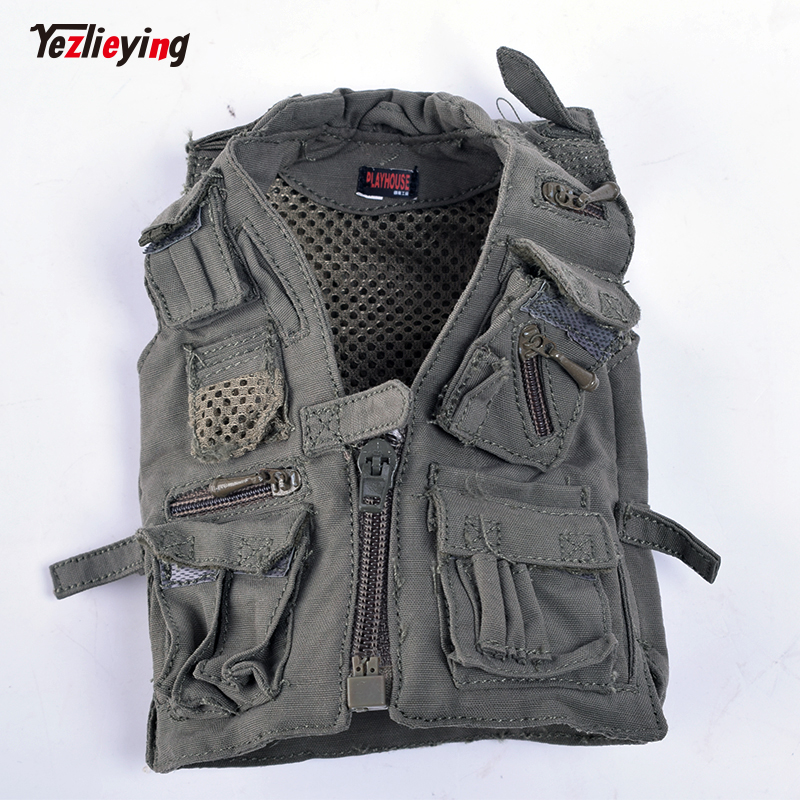 1/6 Scale PLAYHOUSE PH Battlefield Reporter Vest Jacket Army Green Fit for 1/6th scale 12Soldier Action Figure PMC is available
