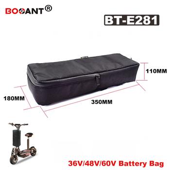 Dla 24V 36V 48V 60V akumulator do skutera elektrycznego płócienna torba bez baterii e-bike bateria płócienna torba 24V 36V 48V DHL darmowa wysyłka tanie i dobre opinie BOOANT 10-20ah 48 v Bateria litowa