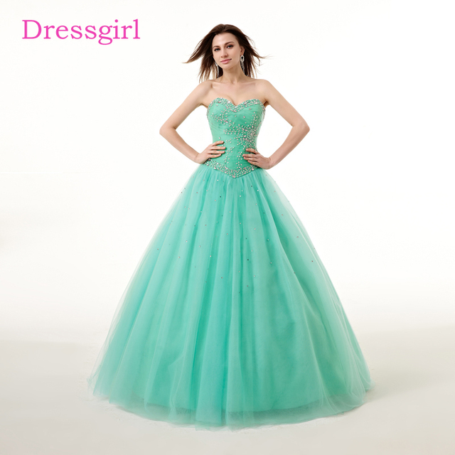 Mint Green Cheap Quinceanera Dresses 2018 Ball Gown Sweetheart Floor ...