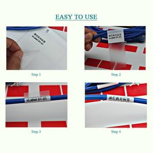 Image 3 - 270 Stuks 58X25Mm Hand Winding Netwerk Kabel Etiket Sticker, Waterdicht Duurzaam Voor Ooit Gebruik, item No. HT05