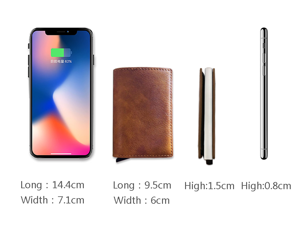 Mens Small Slim Leather Wallets Rfid Card Holder 30