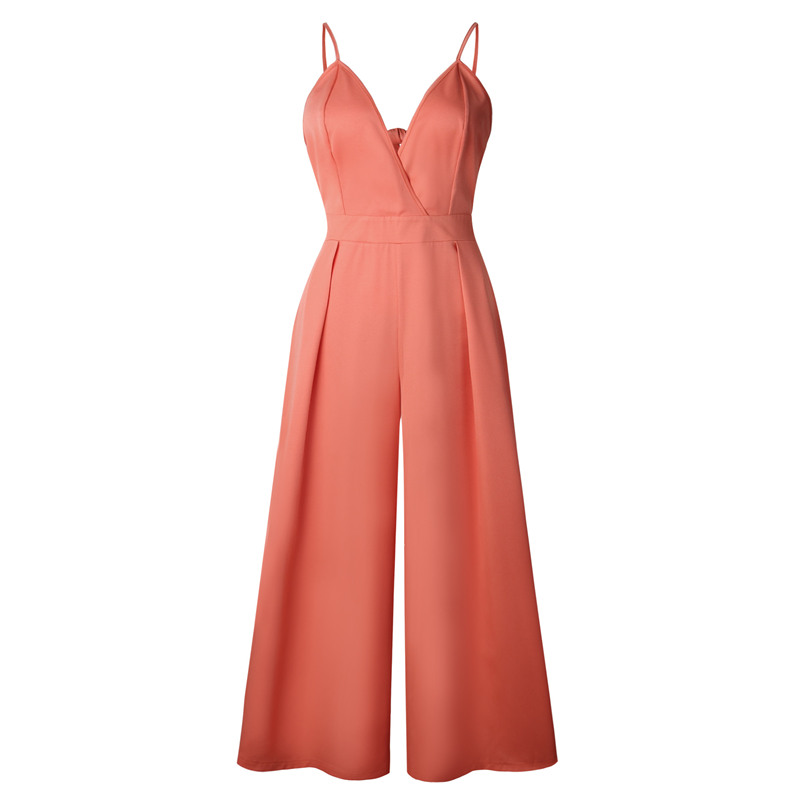 rompers womens jumpsuit plus size summer sexy overalls for women off shoulder casual one piece pants open back jumpsuits 0701.