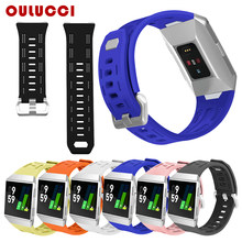 OuLucci grote vervanging sport accessoires voor Fitbit Ionische siliconen val band dropshipping horloge armbanden fit bit horloge band(China)