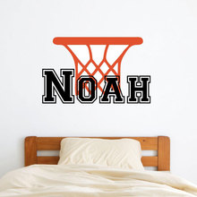 Personalized Name Basketball Wall Decal Vinyl Home Decor Kids Room Boy Bedroom Custom Name Sticker Monogram Interior Murals A206 personalized initial letter wall decal monogram room decor cinderella carriage princess design wall sticker home decor ay0102