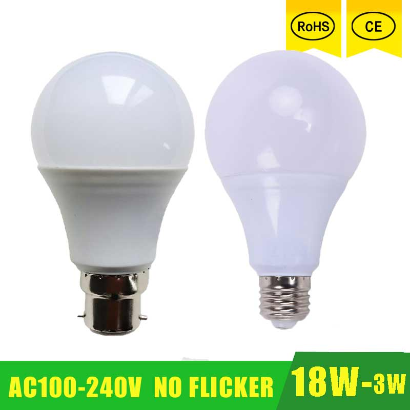 High Power E27 B22 LED Lamp Bulb Light Spotlight Led Light Bulb Lampada Led E27 Lamparas 18W 15w 12w 9w 100-240v LED Bombillas switt high power 220v 240v led lamp corn bulb spotlight smd 5730 lampada led e27 lamparas 9w 12w 15w 18w 20w warm cold white