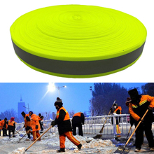 3M  Fluorescent yellow warning tape for Safety sewing on Clothes
