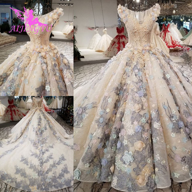 AIJINGYU Slim Wedding Dress Antique Gowns Fat Hot Netherlands Real Price Gown Party Vintage InspiNew Wedding Dresses