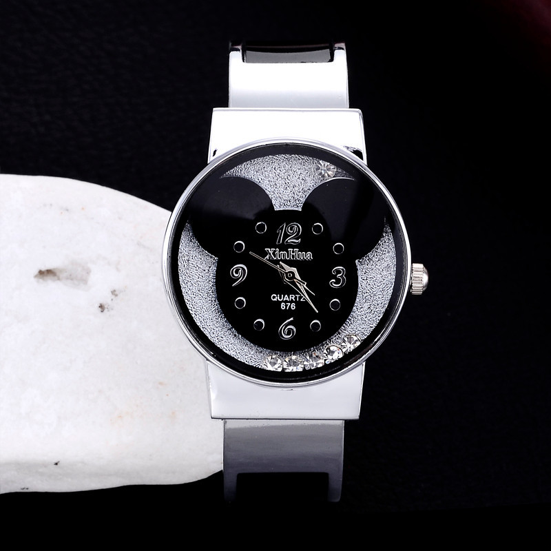 Watches Women Mickey Mouse Stainless Steel Women Watches Clock Ladies Watch Relojes Mujer Montre Femme Zegarek Damski 2019 Saati 2