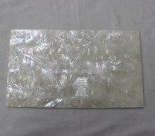 10 unids/lote 1.5 MM engrosamiento madre blanca de pearl laminados hojas 140x240mm MOP shell incrustación de muebles de papel guitarra incrustación accesorios