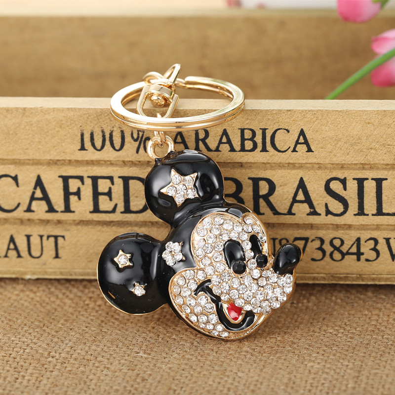 Hot mouse Keychains Crystal Key Ring Key Chains for Christmas Gift Jewelry Llaveros Pendant G76