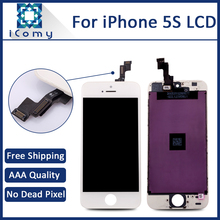 TIANMA Quality No Dead Pixel For iPhone 5S LCD Screen Display with Touch Screen Digitizer Assembly, 10PCS/LOT Quality A++++