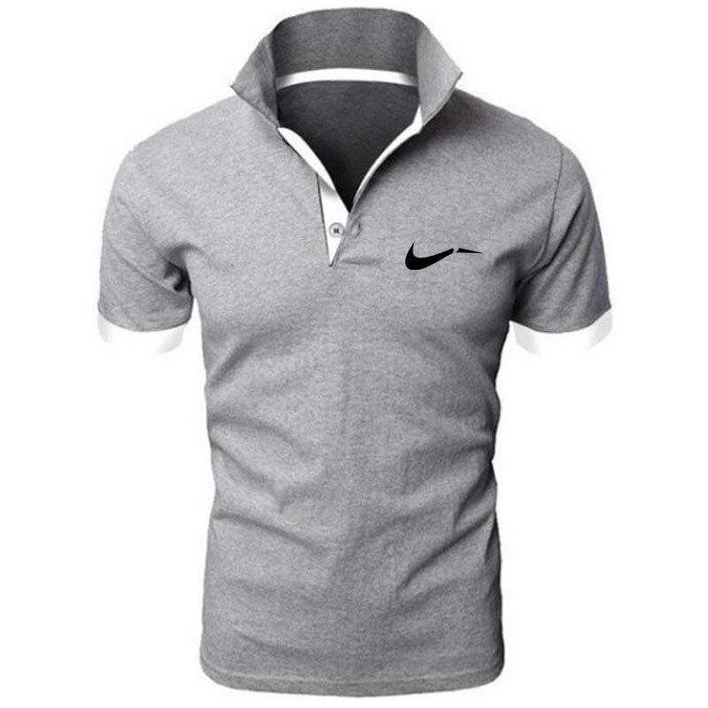New men's   polo   shirts high-quality Polyester short-sleeved shirts breathable solid   polo   shirts summer casual business men's wear