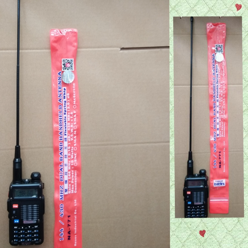 NA771 Κεραία ραδιοφώνου baofeng 888s UV 5R UV 82 WLN διπλής ζώνης baofeng kenwood κεραία ραδιοφώνου NA771