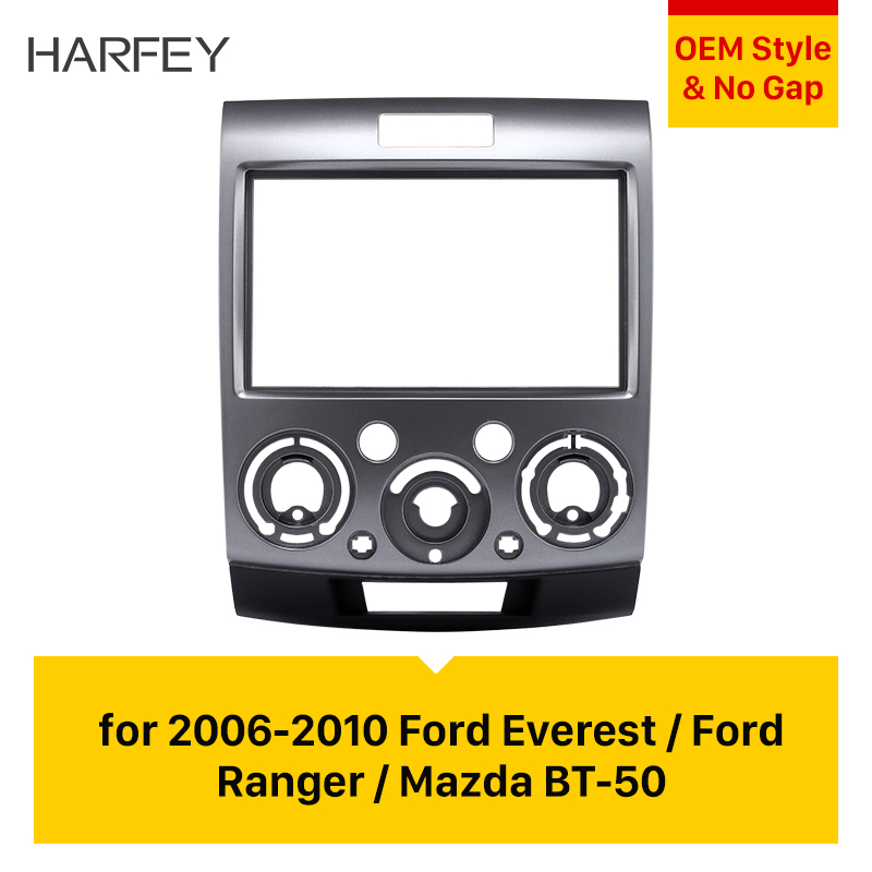 Harfey 2 Din Panel Trim Kit OEM Frame for 2006 2007 2008 2009 2010 Ford Everest Ford Ranger Dash Bezel Car GPS Autoradio Stereo image