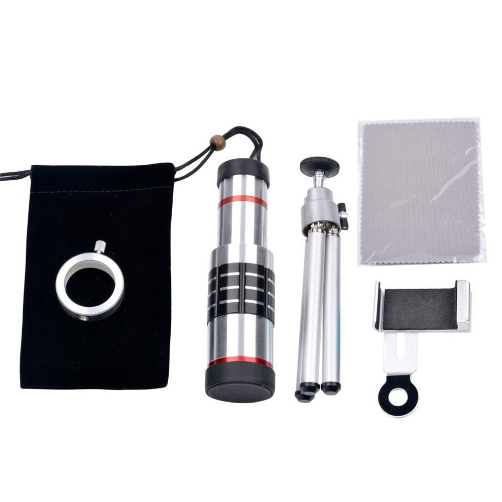 KRY 18x lentes Universal Zoom Camera Phone Lens Optical Telescope Telephoto Lenses Tripod For iPhone 5s lens 6 6s 7 Plus Lens 6