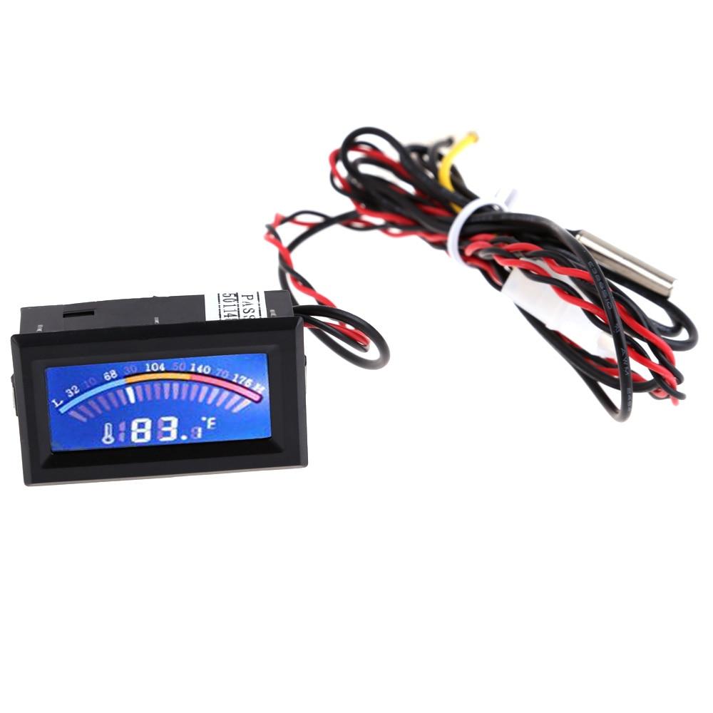 Цифровой термометр ЖК-дисплей синий Подсветка Дисплей Температура метр колеи для ПК C/F Системы с длинными зонда ...