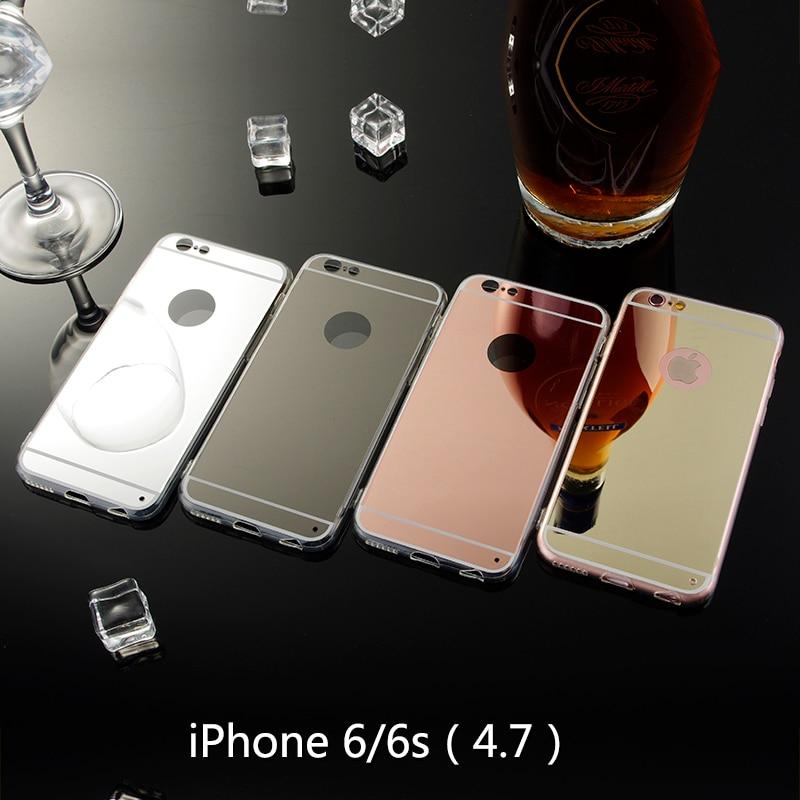 6s or rose coque de telephone pour apple iphone 6 miroir etui souple coque arriere en tpu pour iphone 6s espelhada coque de telephone portable celulaire aliexpress
