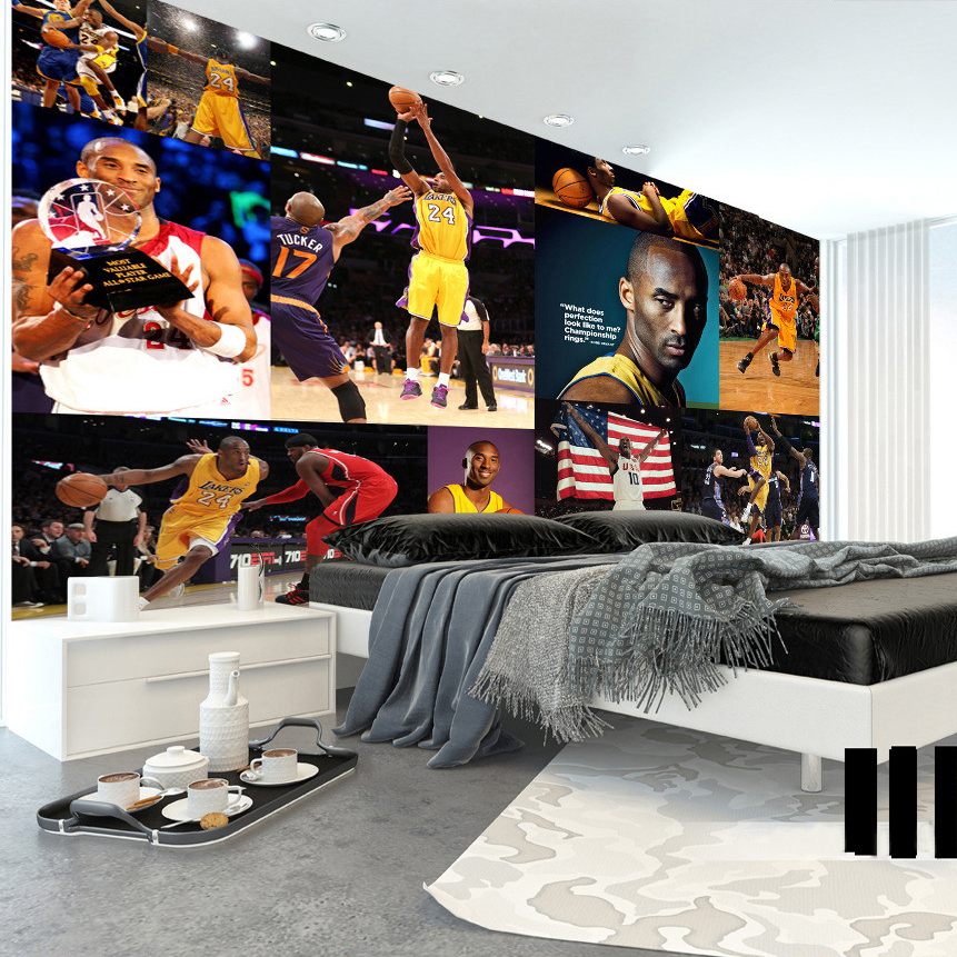 High Quality Custom Poster Wallpaper Basketball Superstar Photo Photography Background Bar Restaurant KTV Tooling Theme Mural