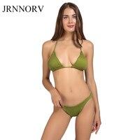 JRNNORV Sexy Pleated Bikinis Women Swimsuit Swimwear Female Hot Sale Brazilian Push Up Bikini Set Beach