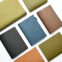 Genuine Leather Notebook Cover A6 Diary Protection Case for Fixed Basic Notes Insert Paper