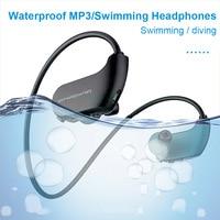IPX8 Waterproof Wearable MP3 Player MP3 Earphones for Running Swimming HSJ 19