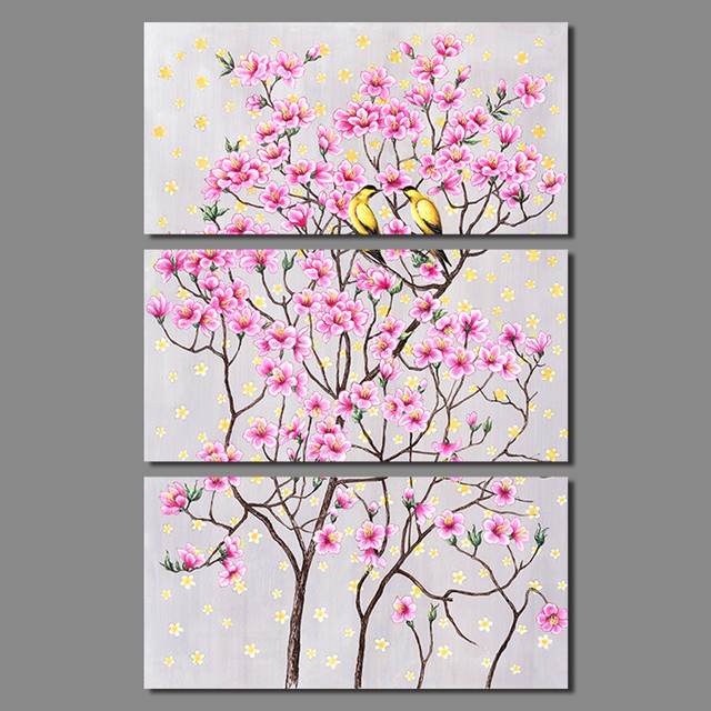 3pcs Retro Chinese Japan style decoration pink Peach blossom yellow ...
