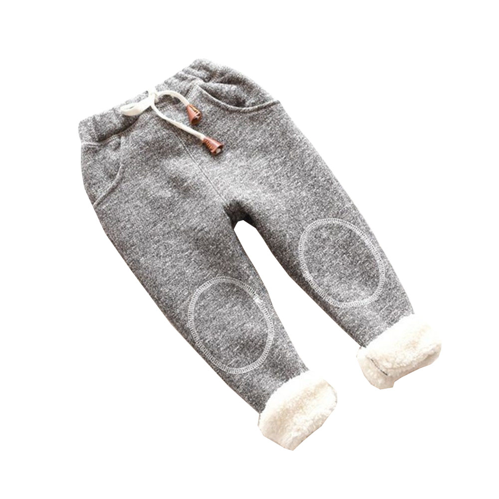 все цены на BibiCola autumn baby boy girl pants newborn baby trousers plus thick velvet Children girl leggings kids winter warm sports pants онлайн