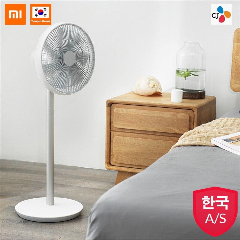 XIAOMI Smartmi 2019 Version blanc naturel ventilateur sur pied 2S avec MIJIA APP contrôle batterie Lithium-ion ventilateur de fréquence DC 25W