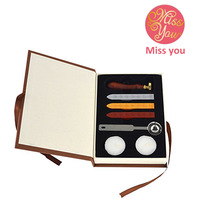 Blessing Retro Wood Classic Seal Stamp Sealing Wax Set Stick Stamp For Letters Wedding Invitation Wax