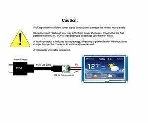 Image 2 - Nextion المحسن 3.2 HMI شاشة تعمل باللمس 400*240 بكسل لوحة الشاشة NX4024K032 مع I/O تمديد لوح تمديد FZ1718E + FZ2280