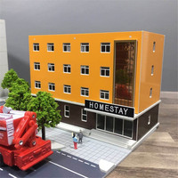 1/150 160 sand table architectural scene model Railway station scene Reflective curtain wall plastic assembly model