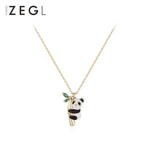 Image 1 - ZEGL בעלי החיים שרשרת פנדה שרשרת אישה תליון עצם הבריח שרשרת בסגנון סיני שרשרת צוואר שרשרת