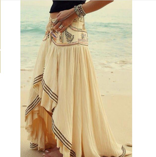 2020 Style Bohemian Beach Skirts Printing Split Skirts New Women's Skirts Boho Sexy Floor-length Skirts Holiday Long Skirts