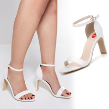 Femeninas High Heels Point Toes T-stage Sexy Dancing Party Shoes Woman Sandals Leather Buckle Platform Summer 2019