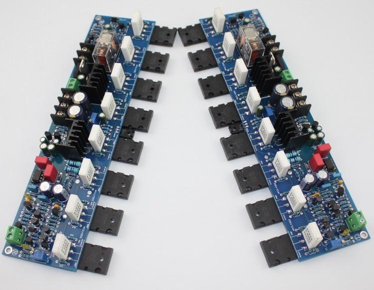 hot sale DIY home audio amp board/E405 amplifier board (A1943 / C5200 and 2SA1930 / 2SC5171) krell ksa100 c5200 a1943 260w 2 class ab power amplifier board