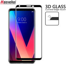 3D Curved Full Cover Tempered Glass For LG G7+ Plus V35 V30S ThinQ Screen Protector V40 Protective Film