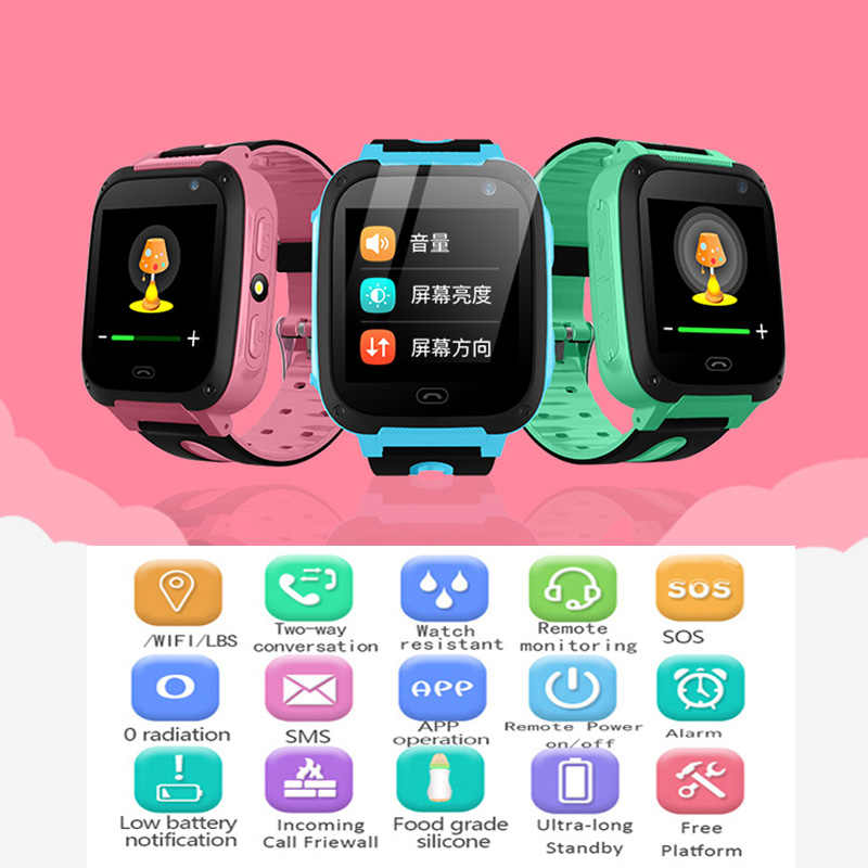 2018 New LIGE Baby Smart Watch For Children SOS Call Location Finder Locator Tracker Anti Lost Monitor Smart Watch Kids+Box