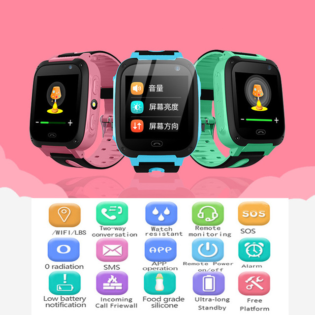 2018 New BANGWEI Baby Smart Watch For Children SOS Call Location Finder Locator Tracker Anti Lost Monitor Smart Watch Kids